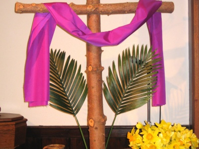 1- Lenten Cross - symbols are added each week at Trinity