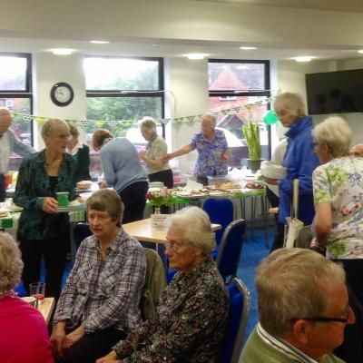 Busy Coffee Lounge and Cake Stall