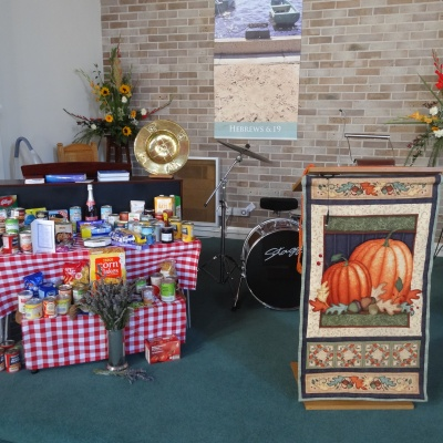 donations and lectern fall